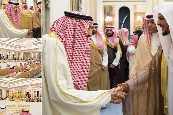 بالصور.. الملك سلمان يستقبل أهالي حائل ويضع حجر الأساس لعدد من المشروعات