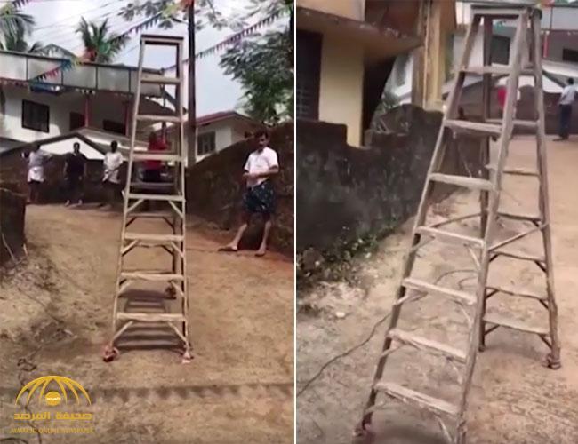 بالفيديو : شاهد .. سلم خشبي يتحرك من نفسه وتفسير علمي يكشف السر !