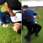 شاهد: لحظة التعدي بالضرب على تلميذ سوري في ملاعب مدرسة ببريطانيا!
