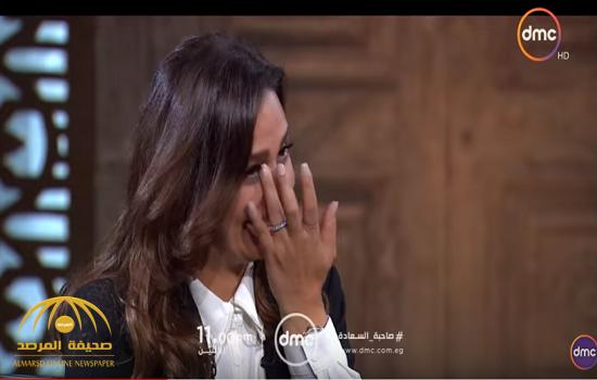 """شاهد.. الفنانة """"حلا شيحة"""" تبكي في أول ظهور تلفزيوني لها بعد خلع النقاب"""
