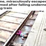 ترجمة حصرية .. شاهد : لحظة سقوط طفلة أسفل عجلات قطار أثناء مروره بسرعة فائقة بالهند!