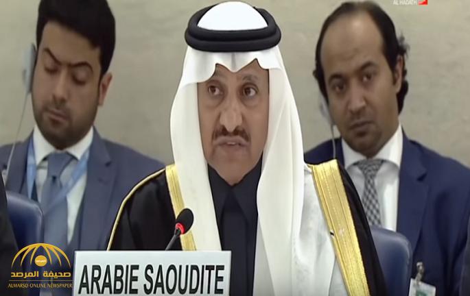 """أول تعليق لرئيس هيئة حقوق الإنسان في المملكة عن قضية """"خاشقجي"""" في جلسة بالأمم المتحدة- فيديو"""