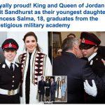 ترجمة حصرية .. شاهد : حفل تخرج ابنة ملك الأردن من الأكاديمية العسكرية البريطانية بحضور الملك وزوجته