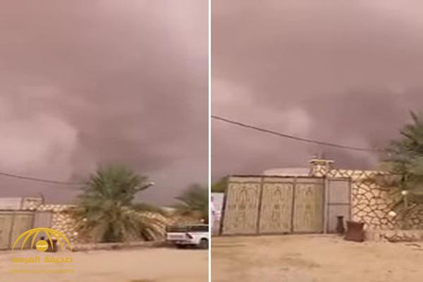 شاهد .. سحابة رعدية هائلة تقترب من أحياء غرب الرياض