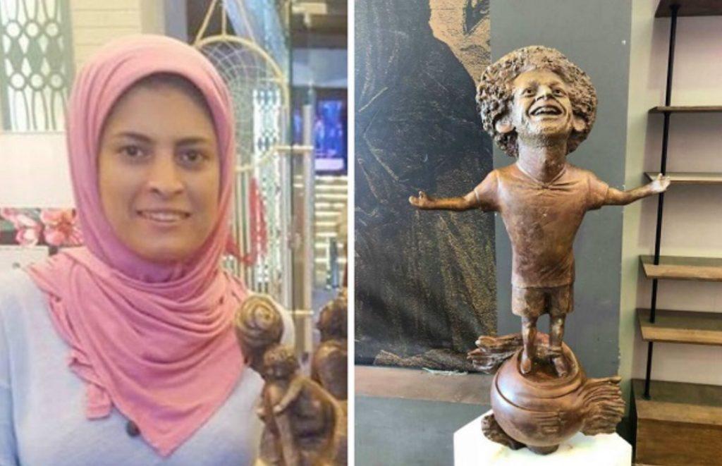 بالصور: صاحبة تمثال محمد صلاح المثير للسخرية تخرج عن صمتها.. وهكذا بررت!