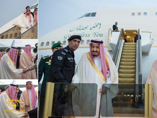 بالصور: خادم الحرمين الشريفين يصل إلى الرياض قادماً من حائل