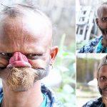شاهد بالفيديو: شخص غريب لديه القدرة على لعق جبهته!