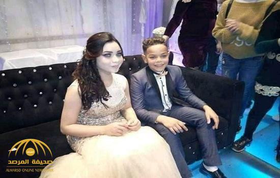 """شاهد .. خطوبة """"طفلين"""" في مصر.. ووالدة العريس: أبني مش صغير على الزواج- فيديو وصور"""