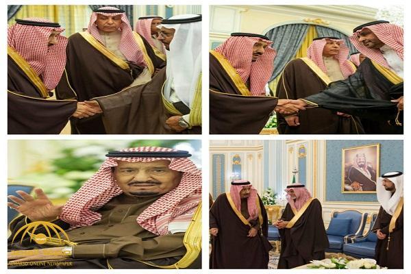 بالصور.. الملك سلمان يستقبل كبار المسؤولين في وزارة الصحة