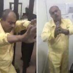 بالفيديو : شاب  كويتي  يضرب عامل نظافة  والأخير يتوسل إليه!