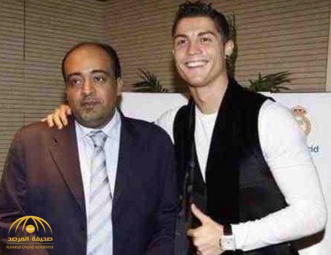 """آل الشيخ  ينشر صورة تجمع """"الفراج"""" مع """"كريستيانو"""" ويمازحه في تغريدة!"""