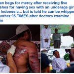 ترجمة حصرية : شاهد فيديو  ..  تنفيذ حكم الجلد في رجلين اغتصبا فتاة قاصر في إندونيسيا