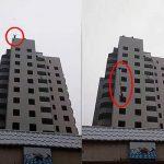 شاهد .. فيديو صادم لطفل يقفز من الطابق الـ 14 أمام أعين والدته ويفشل في فتح المظلة