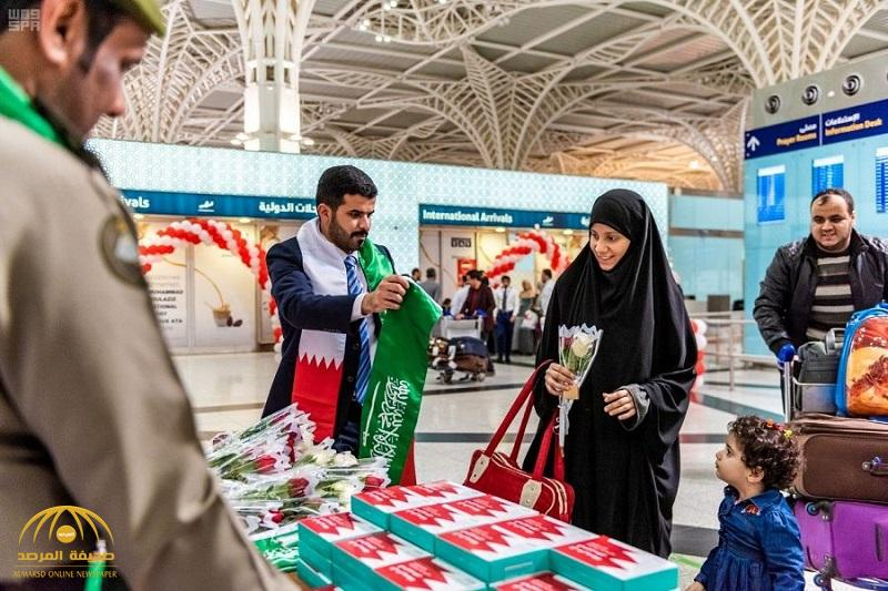 بالصور .. مطارات المملكة تحتفل باليوم الوطني للبحرين