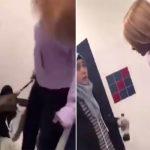 شاهد .. لحظة اعتداء فتاة أمريكية على طالبة سورية محجبة داخل إحدى مدارس بنسلفانيا