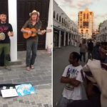 شاهد …أوربيون يعزفون الجيتار ويرددون أغاني في شارع قابل بجدة..ويتجمهر حولهم المارة!