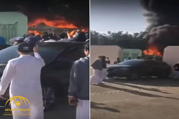 شاهد: لحظة أشتعال النيران في مدرسة بالرياض.. وهكذا جاءت ردة فعل الطلاب!