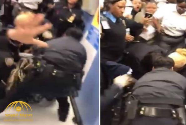 فيديو صادم.. شاهد: شرطة نيويورك تسحل امرأة وتحاول انتزاع رضيعها بطريقة وحشية!