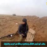 شاهد فيديو .. عناصر داعش يتركون قائدهم يُلاقي مصرعه في المعركة بدير الزور