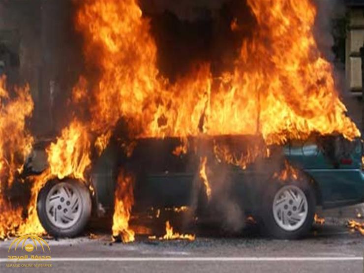 """رجل يشعل النيران في سيارة زوجته الجديدة من نوع """"صني"""" بحائل.. والكشف عن السبب!"""