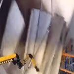 شاهد.. لحظة انهيار سقف ورشة عمل في دزيرجينسكي بمقاطعة موسكو