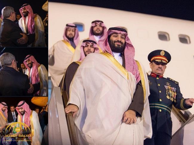 بالفيديو والصور: ولي العهد يصل إلى الجزائر في زيارة رسمية ضمن جولته العربية