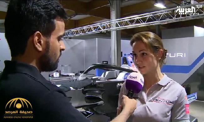 """مديرة فريق  """"فنتوري"""": الدرعية أبهرتنا بتحضيرات سباق الفورمولا-فيديو"""