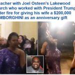 """شاهد:  """"واعظ """" في أشهر كنيسة أمريكية يقدم هدية لزوجته سيارة """"لامبور غيني"""" وشبهات حول مصدر  الأموال!"""