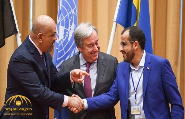 """""""اليماني"""" يكشف ما دار بينه وبين رئيس وفد الحوثيين في مشاورات السويد .. وفيديو يوثق المصافحة!"""