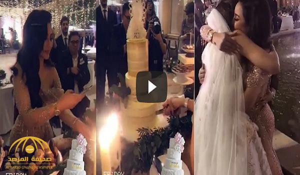 """شاهد.. أول فيديو من حفل زفاف ابنة الإعلامية السعودية """" لجين عمران """" في البحرين"""