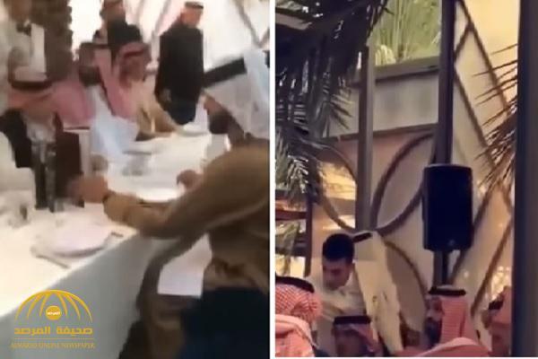 """شاهد.. الوليد بن طلال يجاور ولي العهد بمأدبة الغداء في فعاليات """"فورمولا إي"""""""