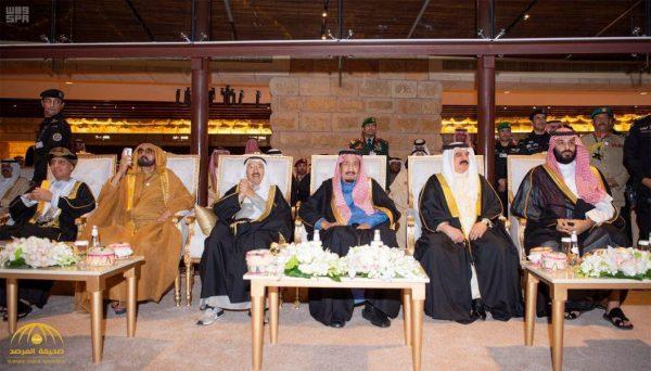 شاهد بالصور:  خادم الحرمين  يرعى حفل افتتاح مشروع تطوير حي الطريف التاريخي