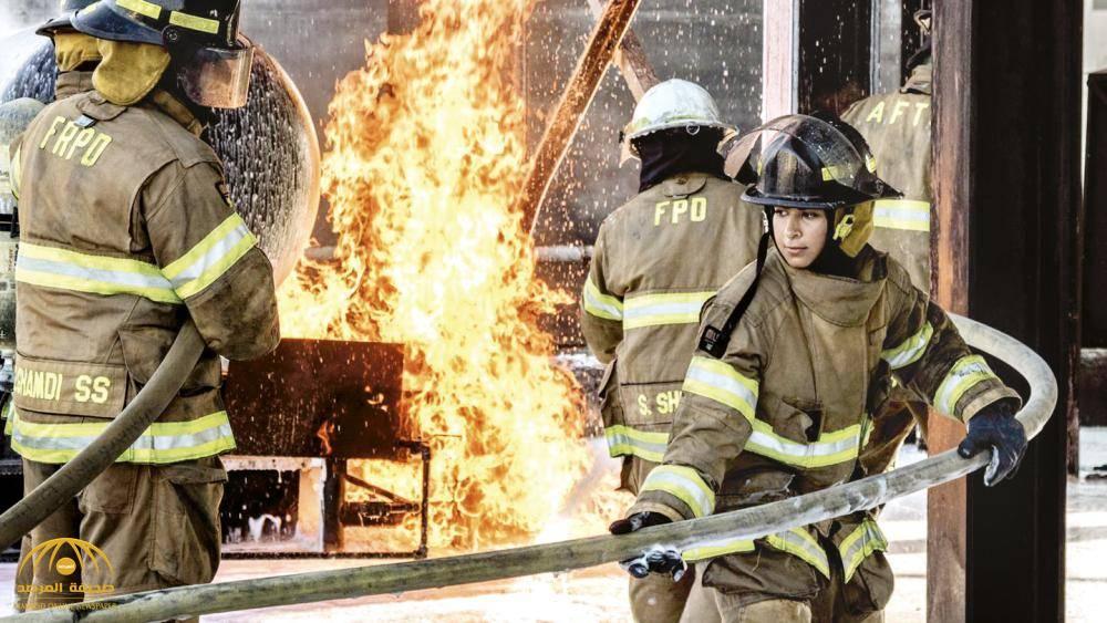 بالصور.. مهندستان سعوديتان في مواجهة الحرائق!