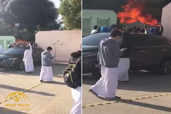 تعليم الرياض يكشف ملابسات اشتعال النار في ثانوية اليمامة .. وخيمة داخل المدرسة سبب الحريق !