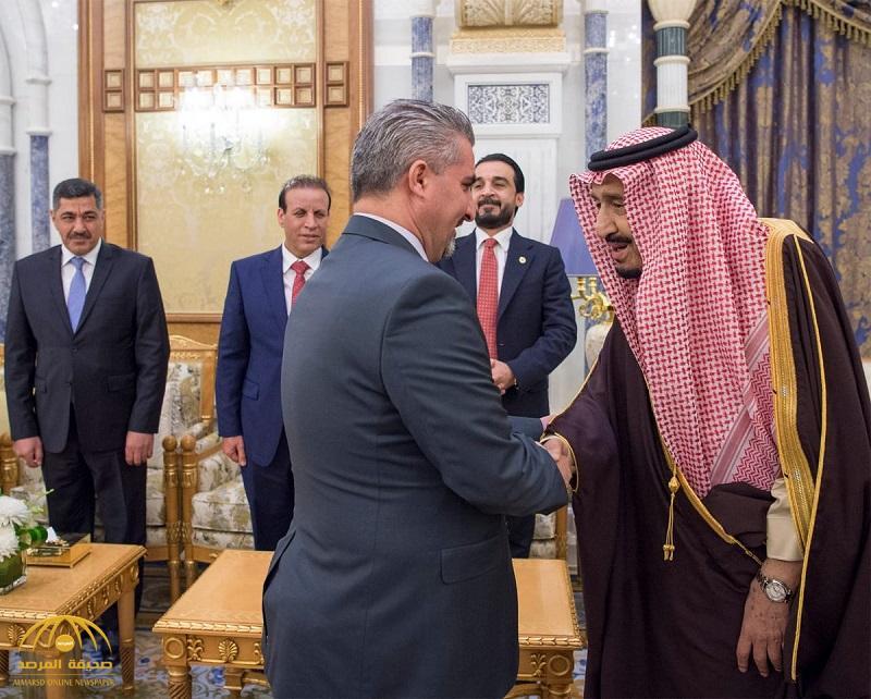 بالصور .. خادم الحرمين يستقبل رئيس مجلس النواب العراقي وعدداً من أعضاء المجلس