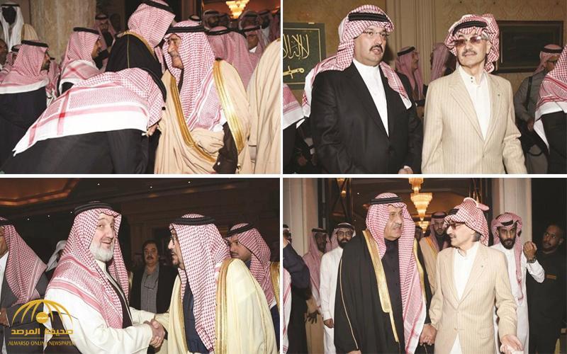"""شاهد بالصور : جموع من المعزين في وفاة  الأمير""""طلال بن عبدالعزيز""""  بمنزل """"الأمير الوليد"""""""