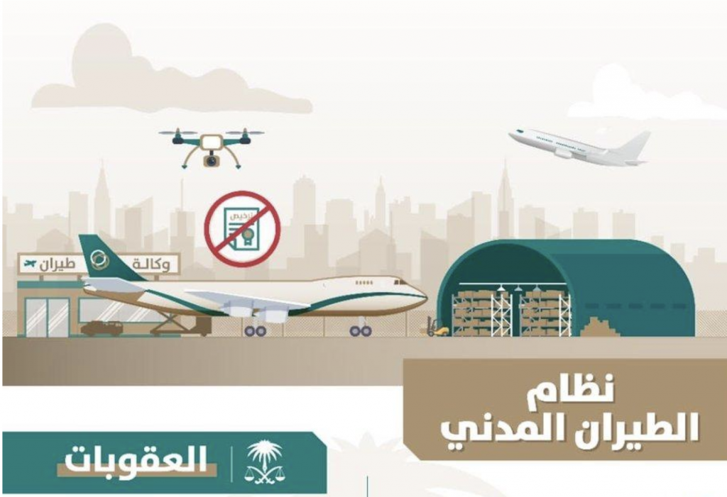 """تحذير جديد من """"النيابة العامة"""" بشأن السلوكيات المجرمة في نظام الطيران المدني"""