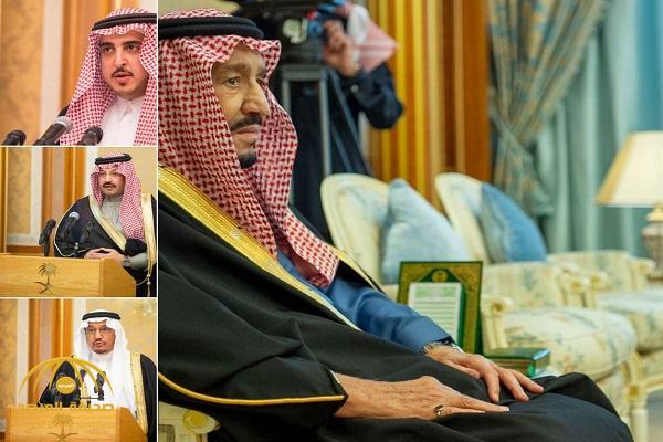 شاهد: الأمراء والوزراء وأعضاء الشورى يؤدون القسم أمام الملك بمناسبة تعيينهم في مناصبهم الجديدة