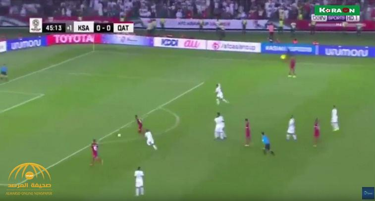 بالفيديو : مباراة (السعودية 0 / قطر  1 )  الشوط الأول  .. كأس آسيا 2019