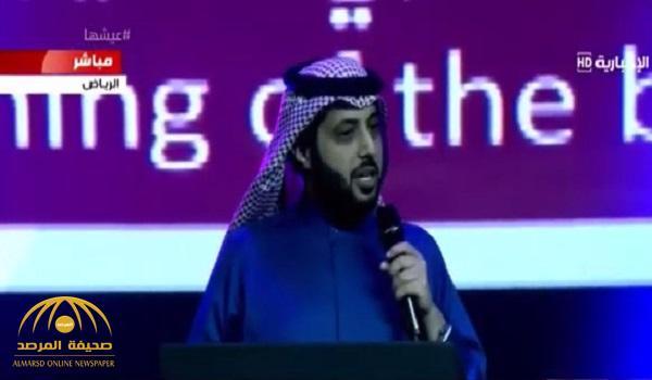 """بالفيديو .. آل الشيخ في حيرة لاختيار مكان فعالية """"جري الثيران"""" : """" أخاف أهل الديرتين يزعلوا مني"""" !"""