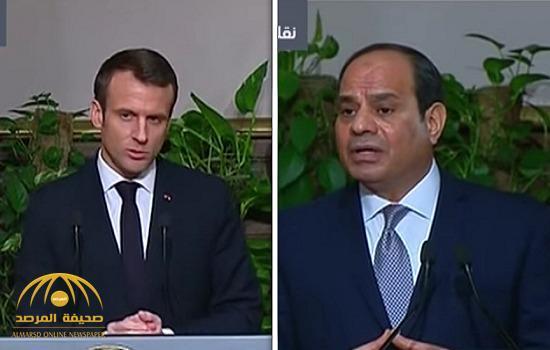 بالفيديو: خلال مؤتمر صحفي .. الرئيس الفرنسي : اعتقال المدونين سيضر بسمعة مصر.. والسيسي: يرد