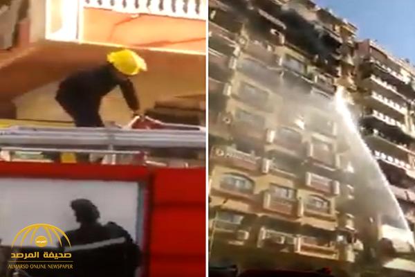 حريق في مصر يثير سخرية واسعة على مواقع التواصل.. شاهد ماذا فعل رجال الإطفاء!