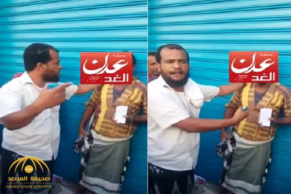"""شاهد: """"حوثي"""" يغش اليمنين ويبيع قطع السيراميك على أنها هواتف ذكية!"""