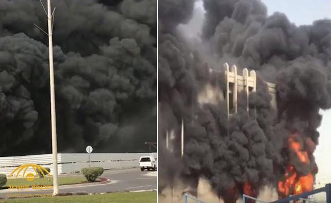 شاهد .. نشوب حريق ضخم في مبنى بجامعة الإمام عبدالرحمن بن فيصل بالدمام