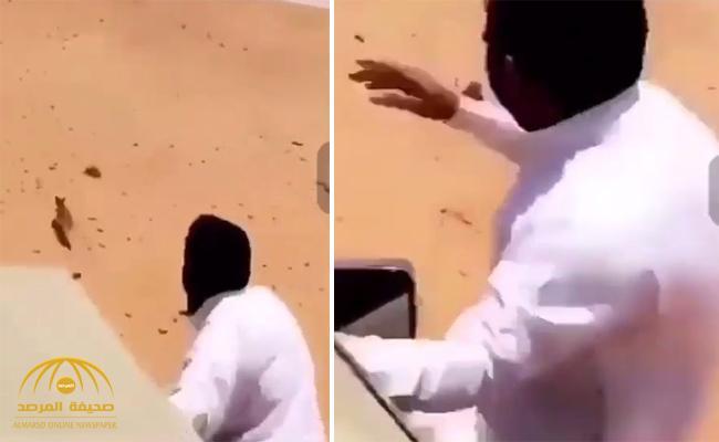 رجموه بالحجارة حتى الموت .. شاهد : كيف انتهت مطاردة شبان لثعلب في الصحراء !