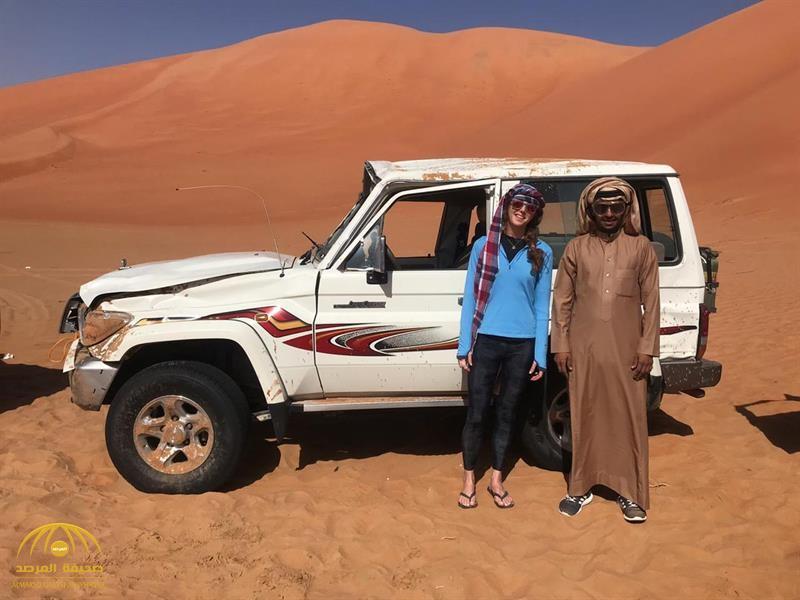 بالصور .. أمريكية تخرج في نزهة بصحراء الربع الخالي فتنقلب سيارتها 18 مرة