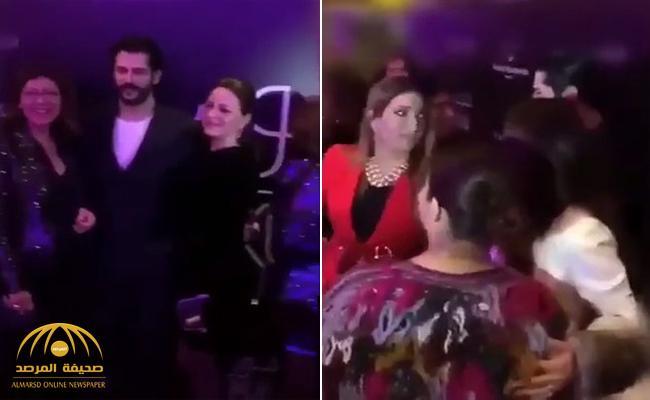 """شاهد.. عدد كبير من النساء في الكويت يتدافعن على الفنان التركي الوسيم  """" بوراك"""""""