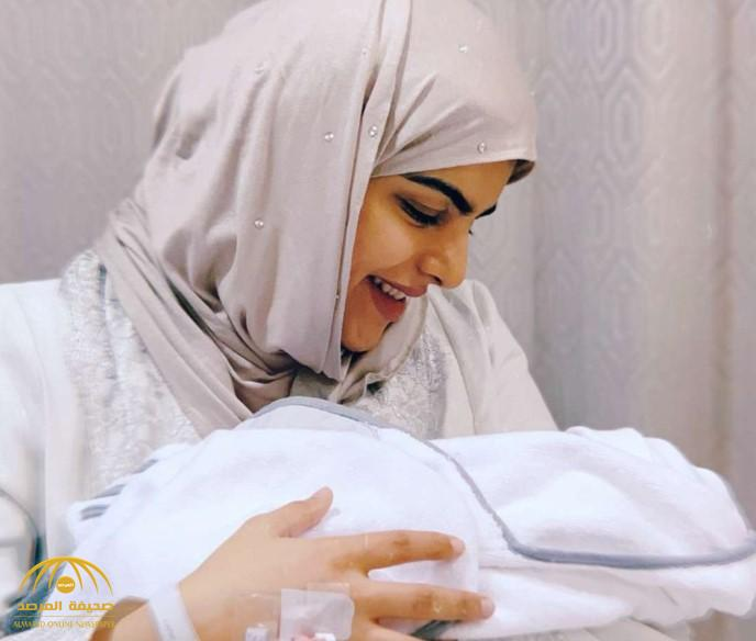 شاهد: سارة الودعاني تنجب.. وتعلن اسم وجنس المولود