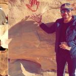 """شاهد.. راشد الماجد وماجد المهندس وعبد الكريم عبد القادر يزورون """"العلا"""" قبل حفلهم في مهرجان """"شتاء طنطورة"""""""