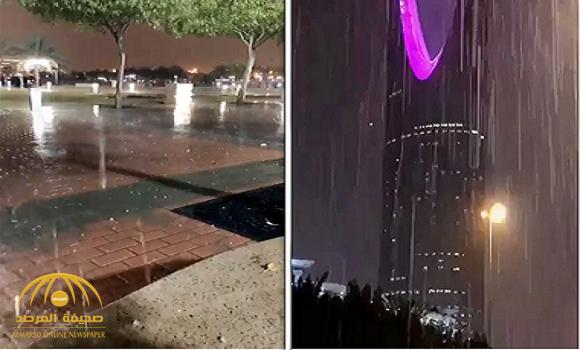 بكاميرات هواتف المواطنين.. شاهد: الأمطار الغزيرة التي هطلت قبل ساعات على الرياض